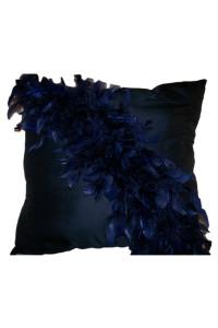 Glamorous Feathers-Navy Blue